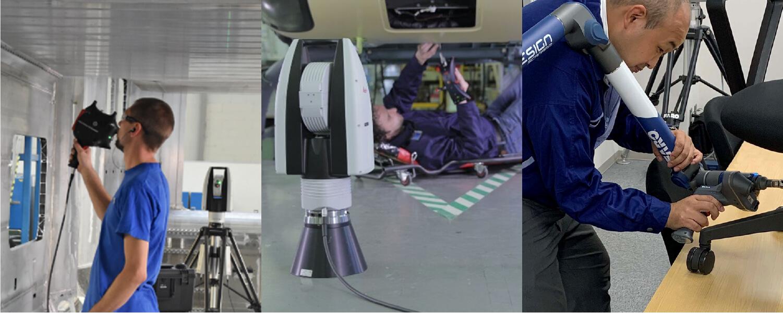 3Dレーザートラッカー&スキャンアームを駆使した3D計測/データ処理