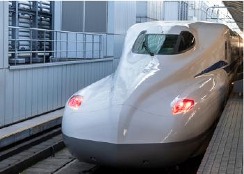 新幹線用車輪台車の測定